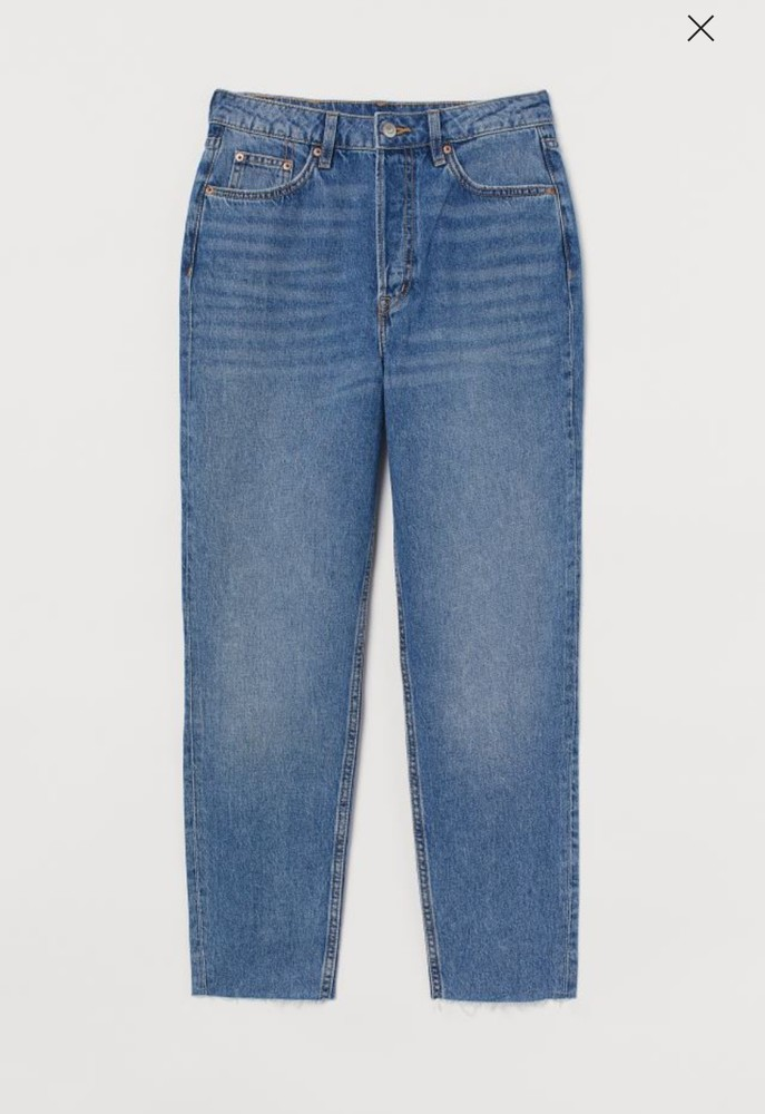 Новые трендовые джинсы мом с высокой посадкой фото №1