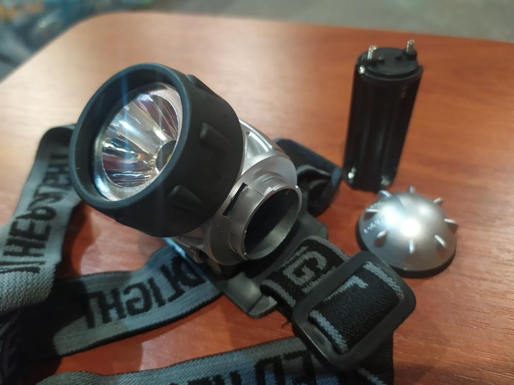Налобный фонарик мощный фото №1