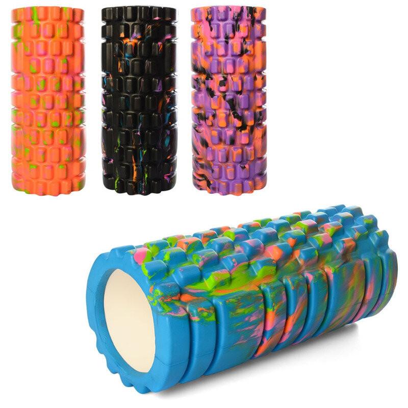 Валик массажный, роллер, ролик для фитнеса с принтом 33 на 14 ms 0857-1 фото №1