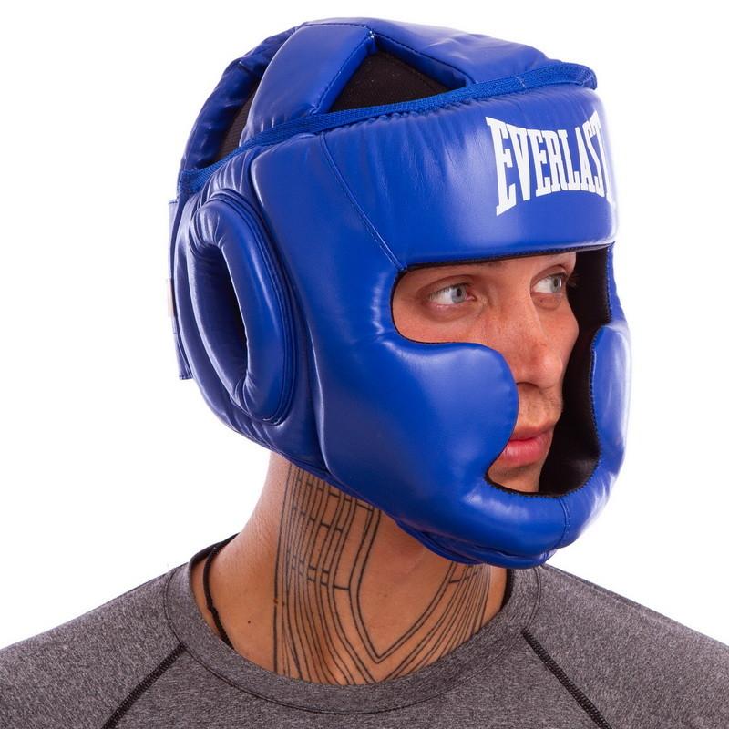 Шлем боксерский с полной защитой elast 6001 (шлем бокс): размер m-xl (3 цвета) фото №1