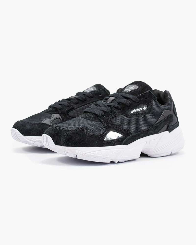 Женские кроссовки adidas falcon black (aaa+) 36-37-38-39-40-41 фото №1