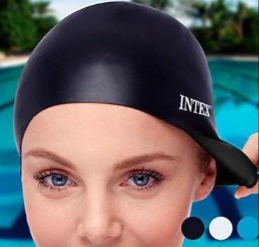 Шапочка для плавання. універсальна. обхват голови 54 см. фото №1