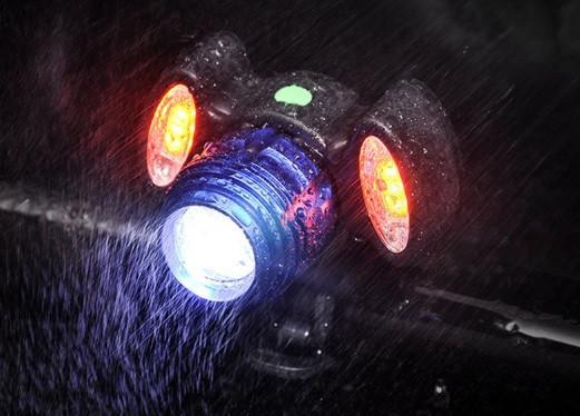 Велосипедный фонарь bg-658+2cob фото №1