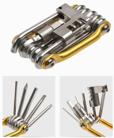 Велосипедный ключ (мультитул) 11 в 1 фото №1