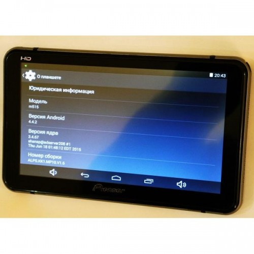 Навигатор - планшет pioneer x6 - экран 7, 4 фото №1