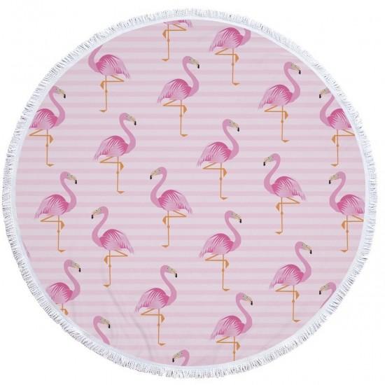 Пляжный коврик круглый tender flamingo 150 см 123287 фото №1