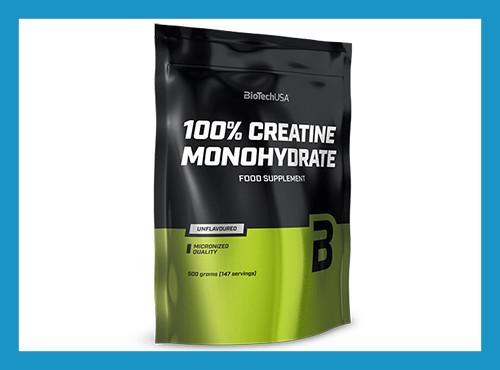 Креатин моногидрат biotech usa 100% creatine monohydrate 500 g - пакет фото №1