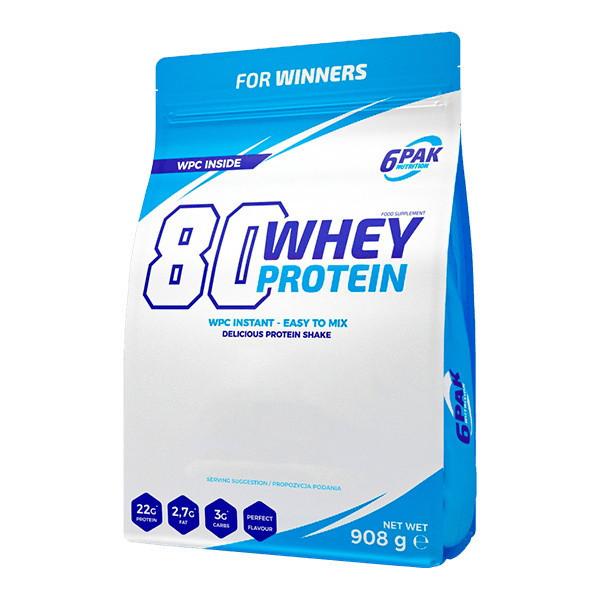 Протеин белок 6pak nutrition 80 whey protein 908 грамм фото №1