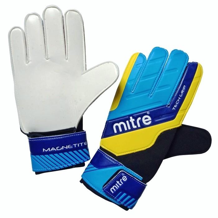 Вратарские перчатки, футбольные перчатки mitre magnetite, размер5 фото №1