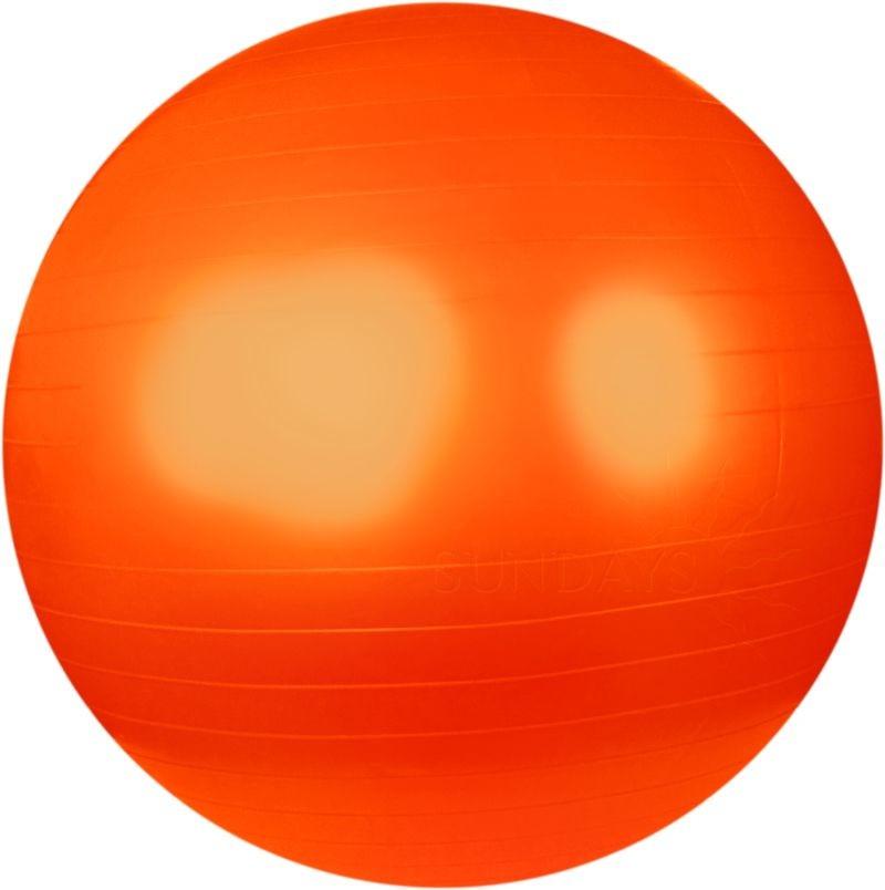 Мяч для фитнеса 65 см без коробки гимнастический мяч фитбол оранжевый фото №1