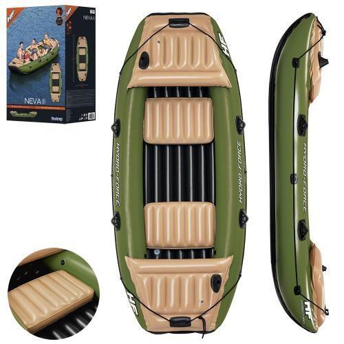 Надувная лодка двухместная вestway 65008 neva iii с рем комплектом фото №1