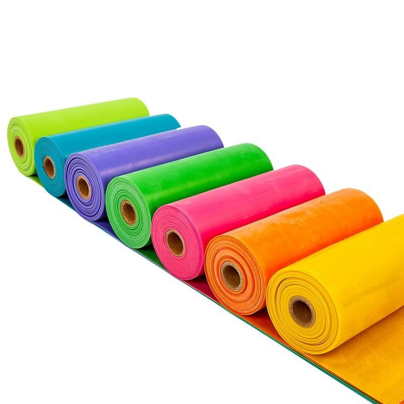 Лента эластичная для фитнеса и йоги в рулоне сube 6256-5_5: размер 5,5мx15смx0,45мм фото №1