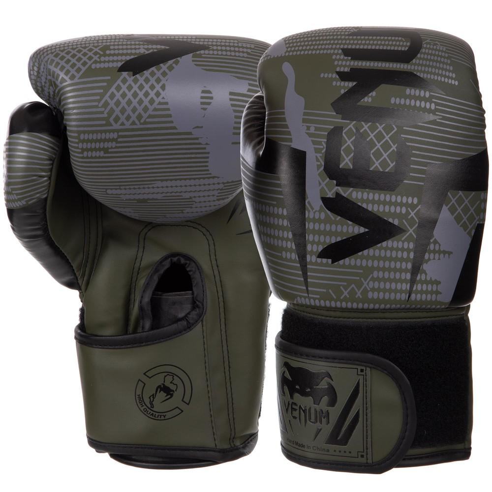 Перчатки боксерские на липучке venum 2533: 6-14 унций, pu фото №1