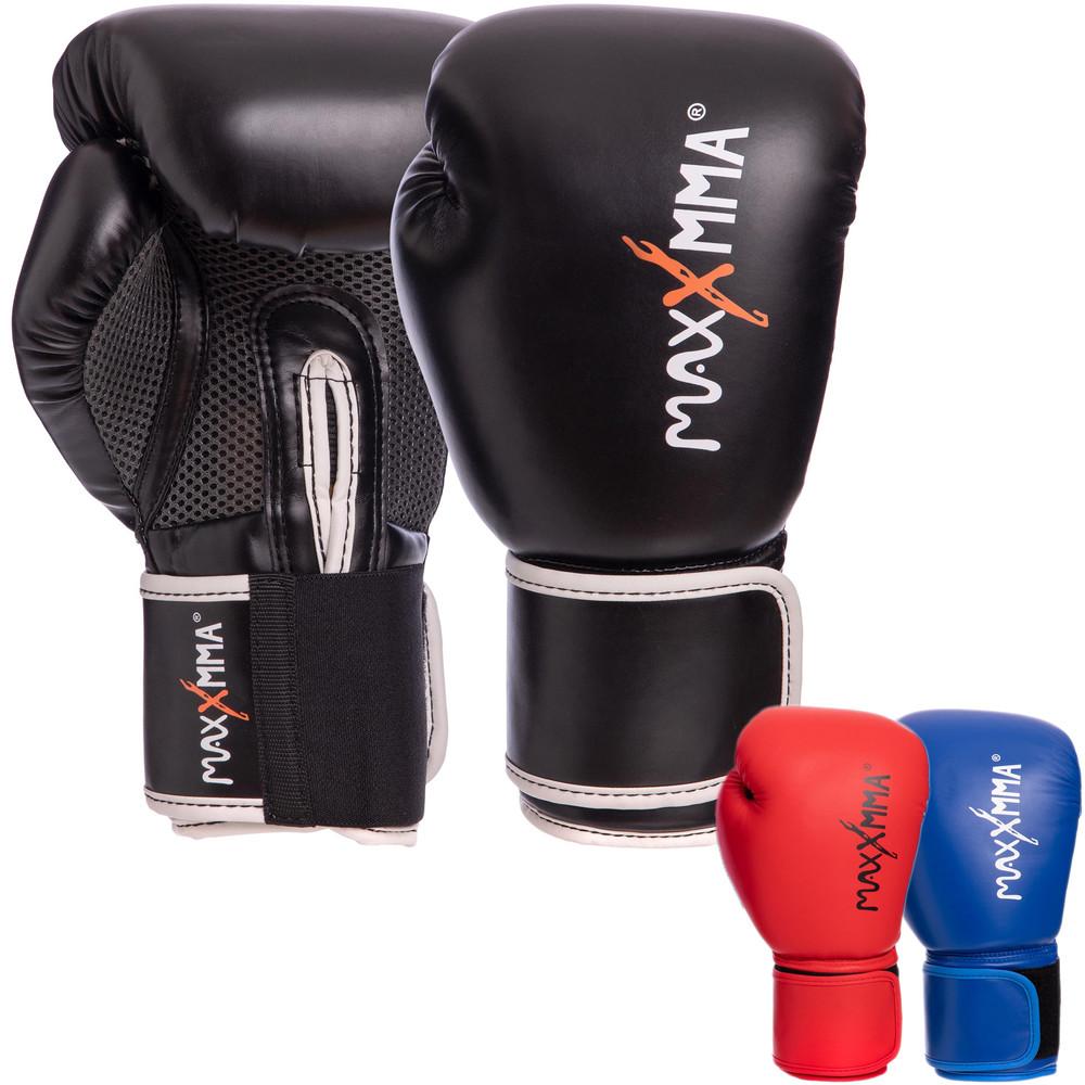 Перчатки боксерские на липучке maxx gb01s: 10-12 унций (3 цвета) фото №1