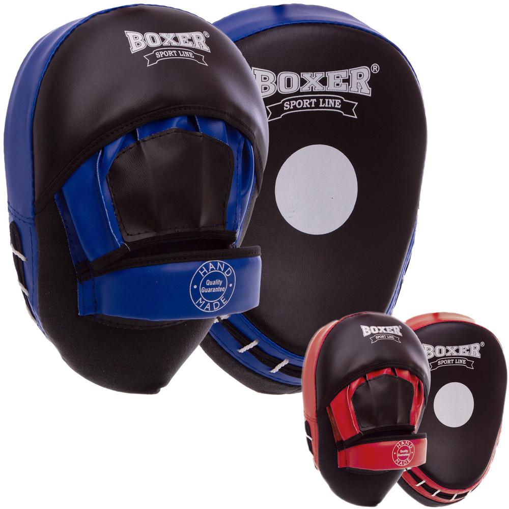 Лапа изогнутая боксерская boxer элит 2013-01: 2 лапы в комплекте (2 цвета) фото №1