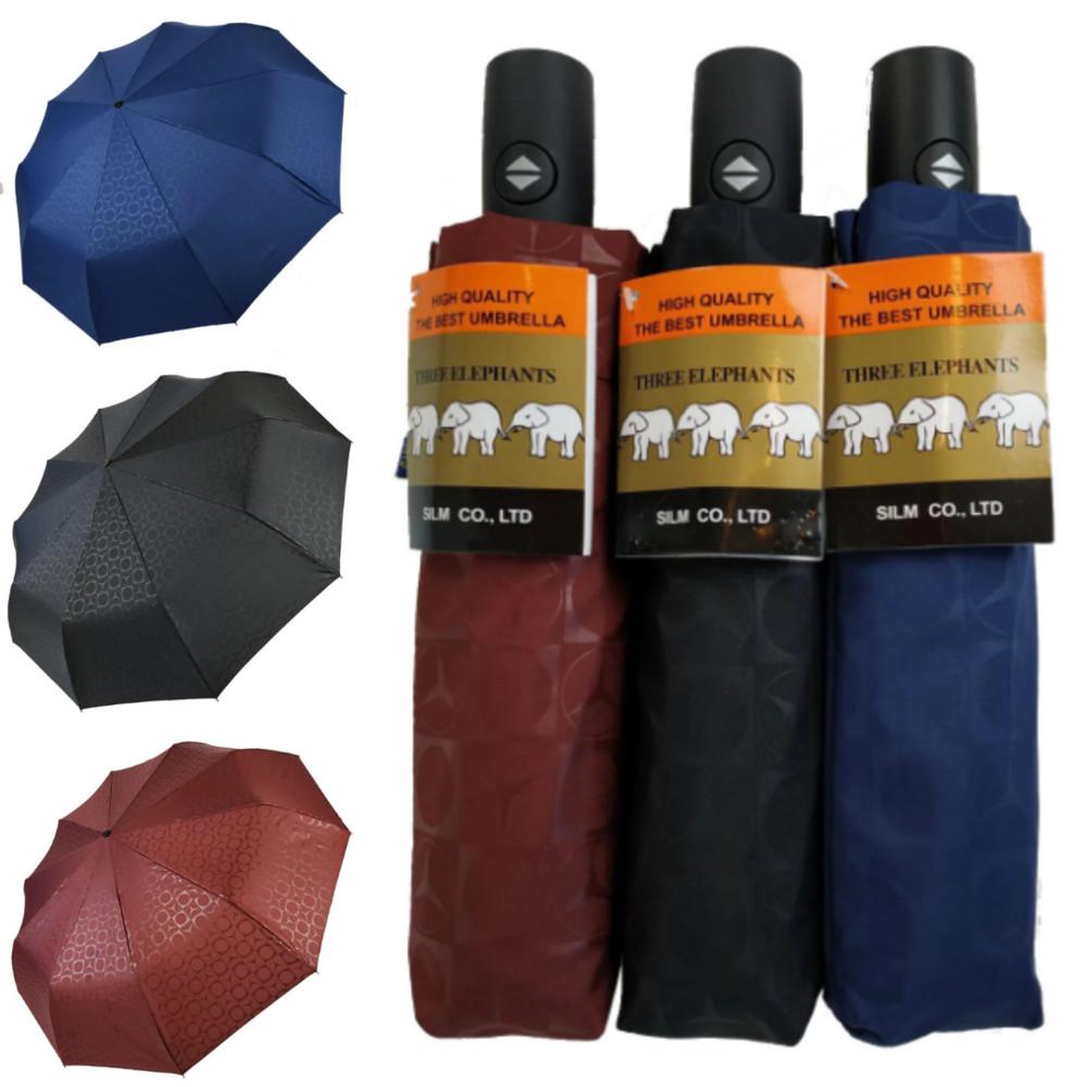 Автоматический зонт три слона™ (бордовый, синий, черный) ® автоматична жіноча парасоля фото №1