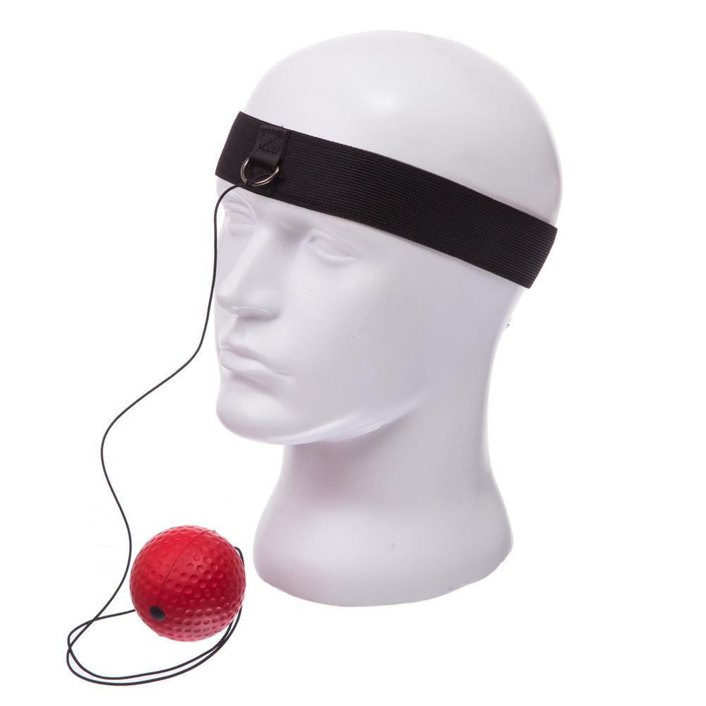 Тренажер для бокса пневмотренажер fight ball 0374b (теннисный мяч на резинке боксерский) фото №1