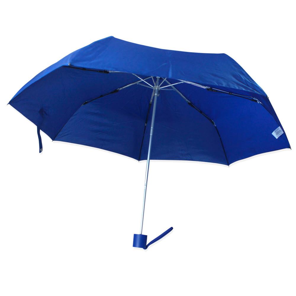 Зонт складной полуавтомат. синий. фото №1