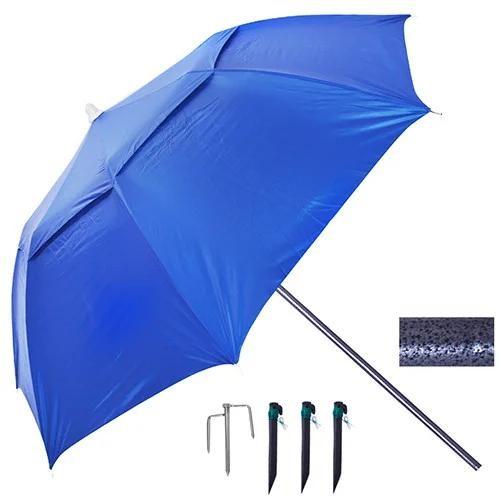 Зонт пляжный и садовый антиветер с наклоном 2.0 м, (с треногой, колышками и веревкой) uf-защита мн-2 фото №1