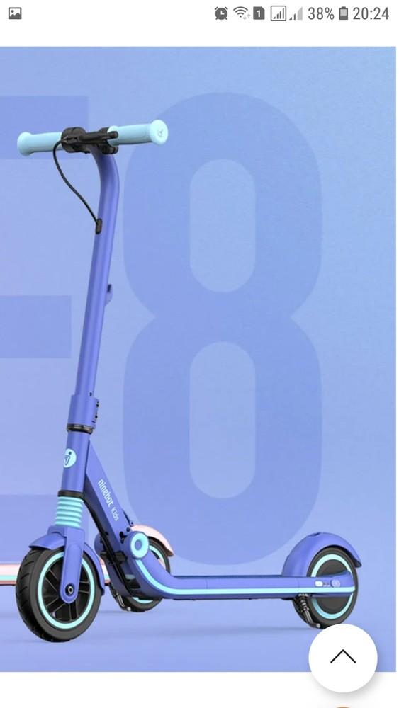 Новинка электросамокат ninebot by segway e8 blue aa.00.0002.26 фото №1