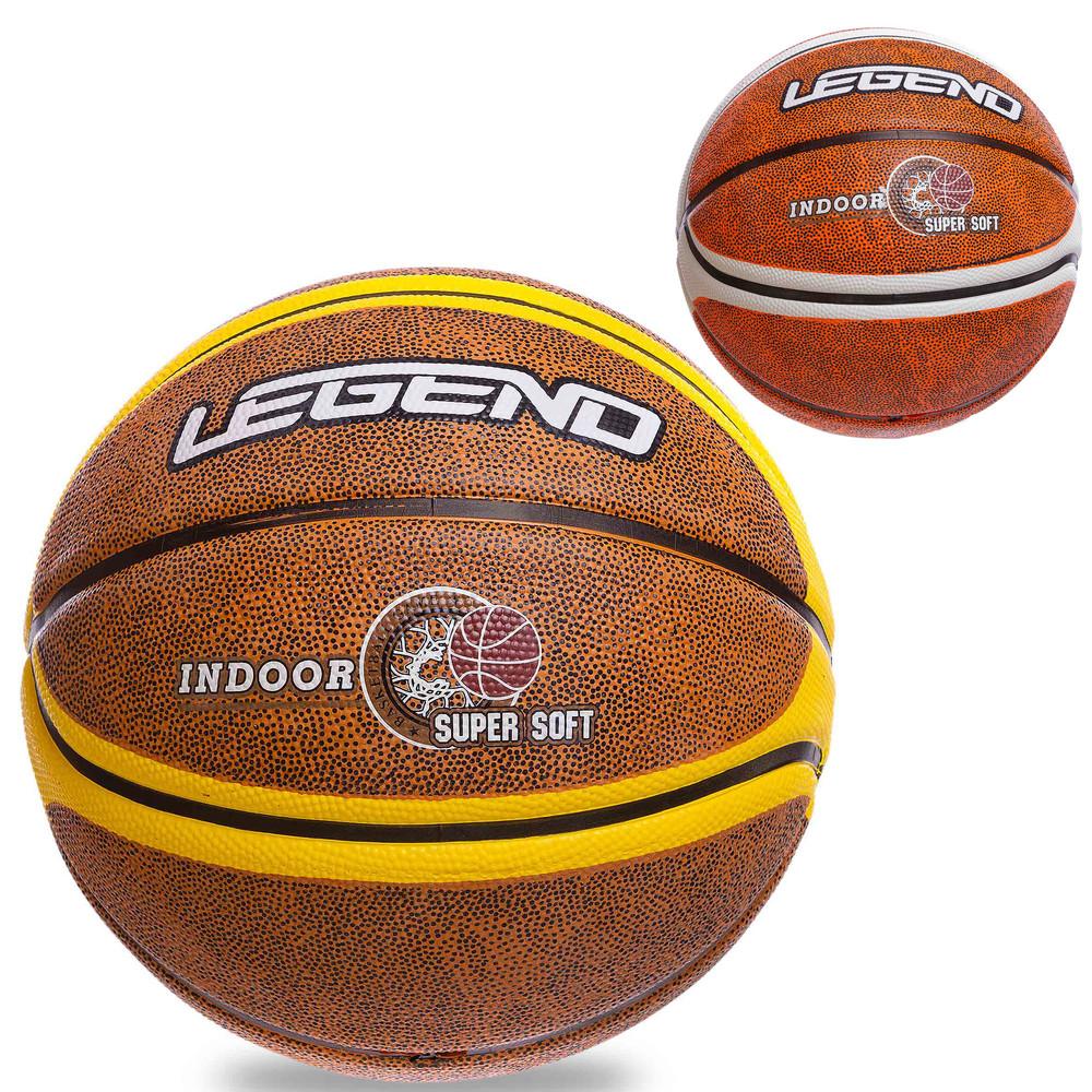 Мяч баскетбольный резиновый legend №7 1912: размер №7 (резина, бутил) фото №1