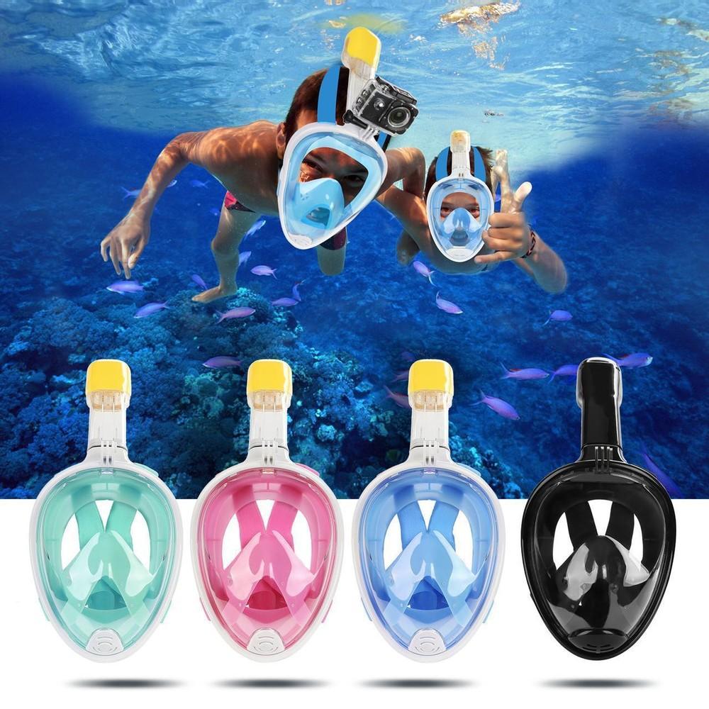 Инновационная маска для снорклинга подводного плавания с креплением для камеры f113 фото №1