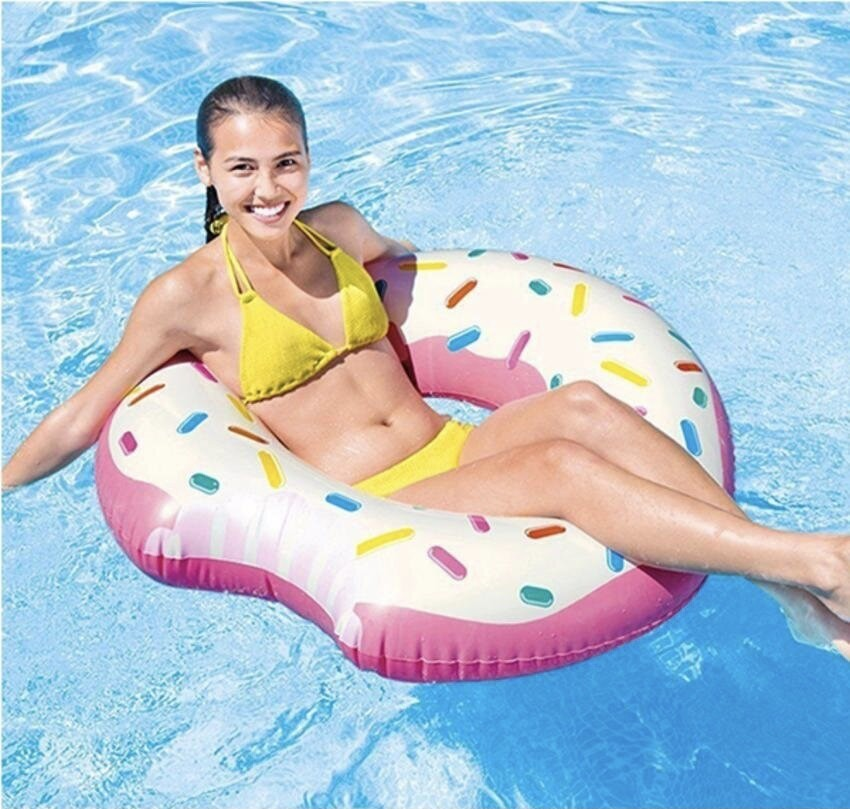 Надувний круг пончик. діаметр 94 см. до 80 кг. незамінний для моря фото №1