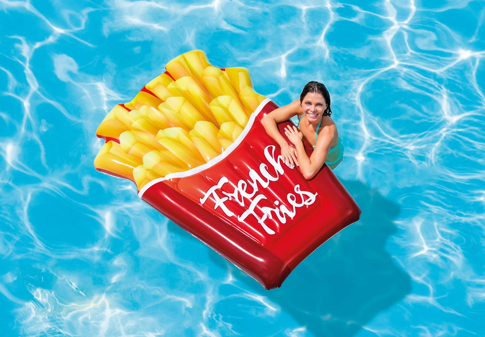 Матрас надувной плотик плот картошка фри матрац надувний intex french fries фото №1