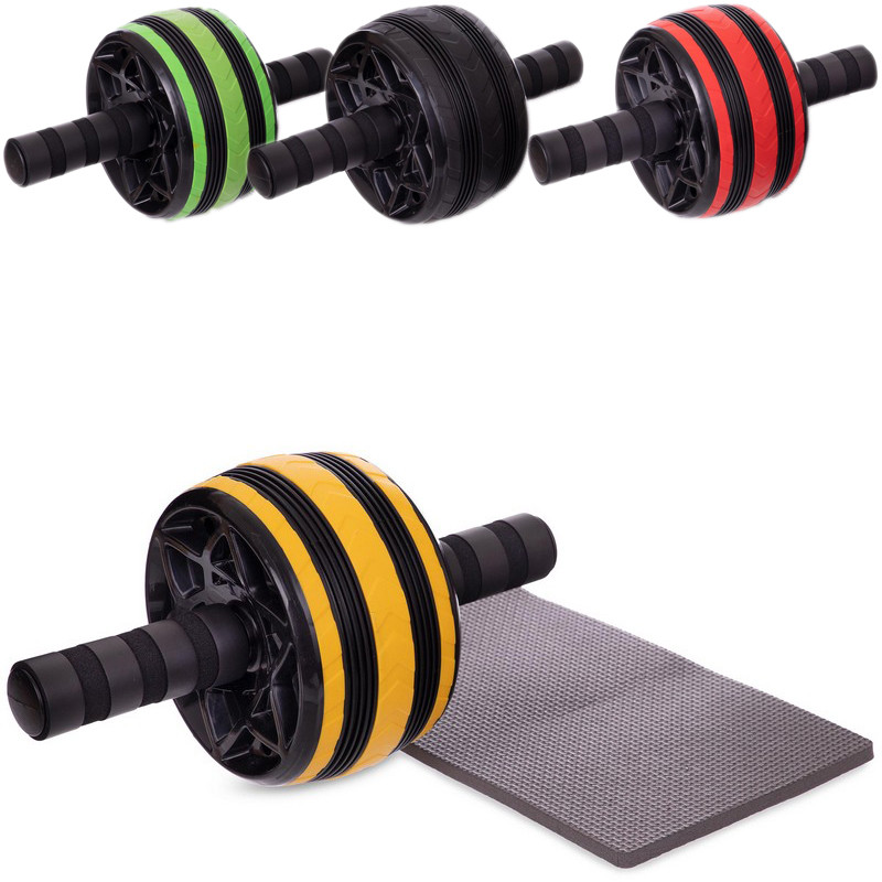 Колесо для пресса одинарное 2540 (ролик для пресса с ковриком): диаметр 14см (4 цвета) фото №1