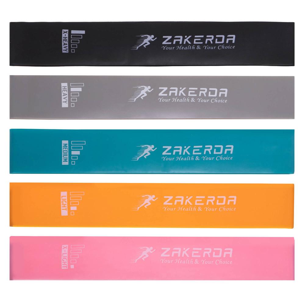 Набор резины для фитнеса loop bands 2823 (лента сопротивления): 5 лент в комплекте фото №1