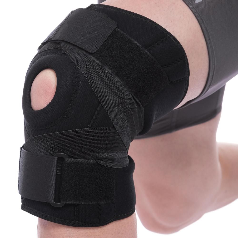 Наколенник ортез коленного сустава с эластичными ребками жесткости mute 9052: регулируемый размер фото №1