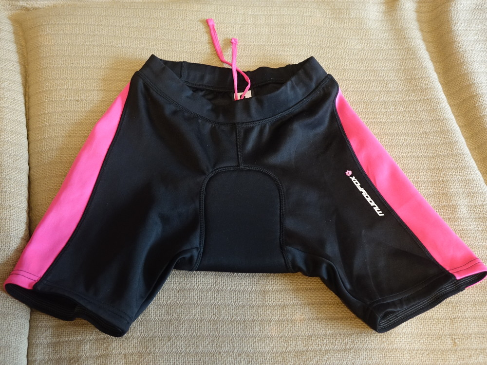 Яркие черно-розовые велошорты muddyfox англия 6 р. фото №1