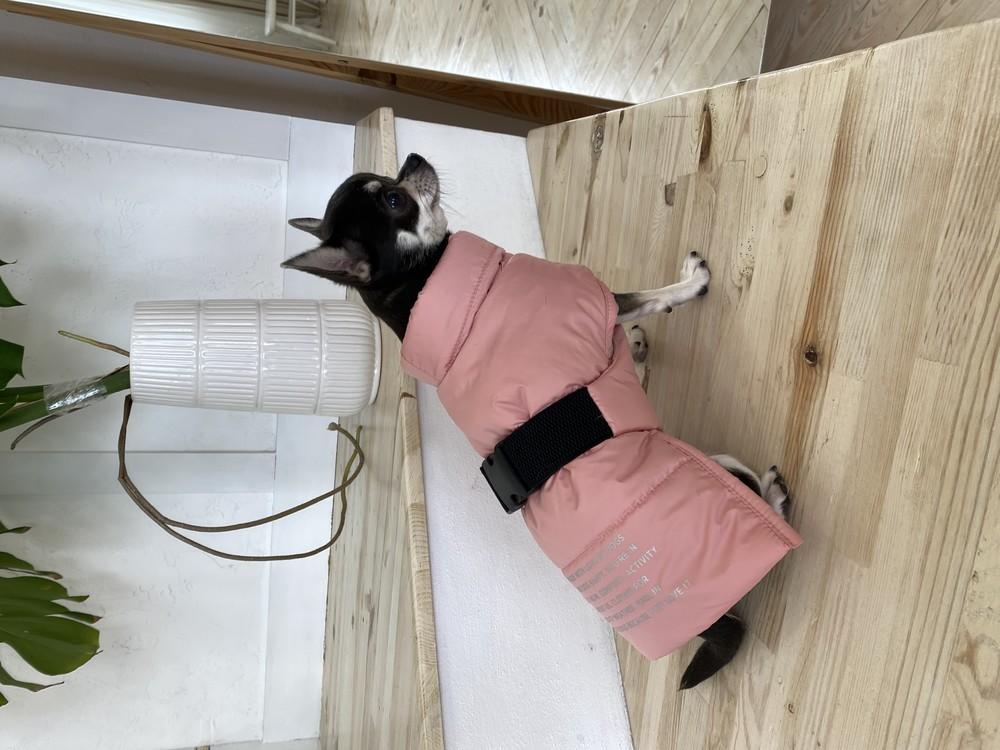 Жилет для собак дутый розовый фото №1